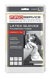 Перчатки PRO service латексные хозяйственные Professional L 1 пара желтые