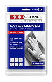 Перчатки PRO service латексные хозяйственные Standard M 1 пара желтые