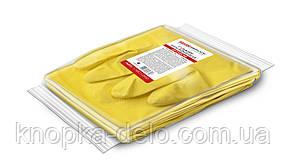 Перчатки PRO service латексные хозяйственные Optimum S 1 пара желтые