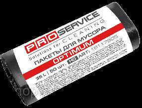 Пакеты для мусора PRO service HD 35 л 50 шт. Optimum черные