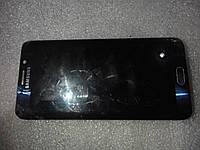 Дисплей с битым стеклом б.у. оригинал для SAMSUNG GALAXY S6edge+ SM-G928
