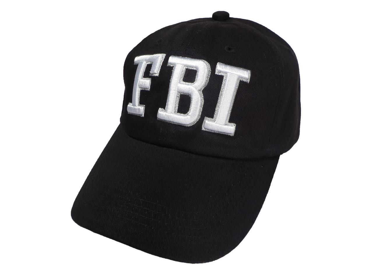Кепка чёрная с надписью FBI