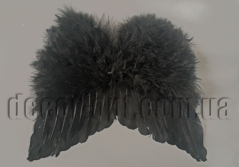 Крила Ангела чорні 35х30см