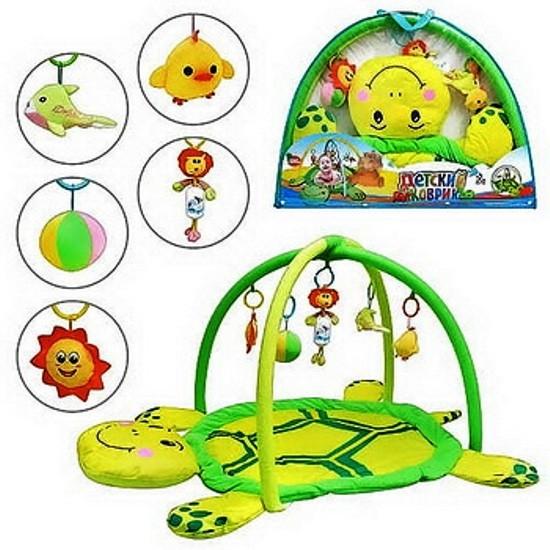 Розвиваючий килимок для дітей від 0+ з іграшками 898-12B