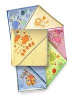 Детское полотенце с капюшоном  для купания с термопечатью (100 х 100 см) Duetbaby