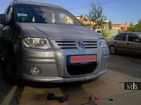 Передний бампер Volkswagen Caddy (накладка, под покраску)