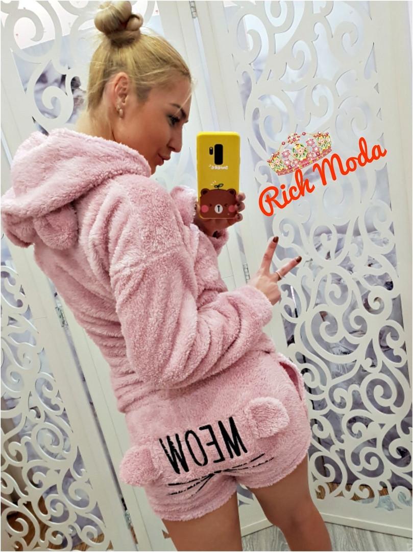 80b4d5c0047ed Женская махровая пижама Турция 6934 - Интернет-магазин