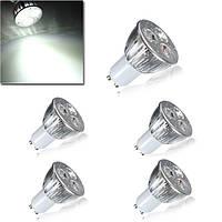5X GU10 9W Белый 3LED Spotlightt Лампы LED Лампа Свет AC85-265V 1TopShop