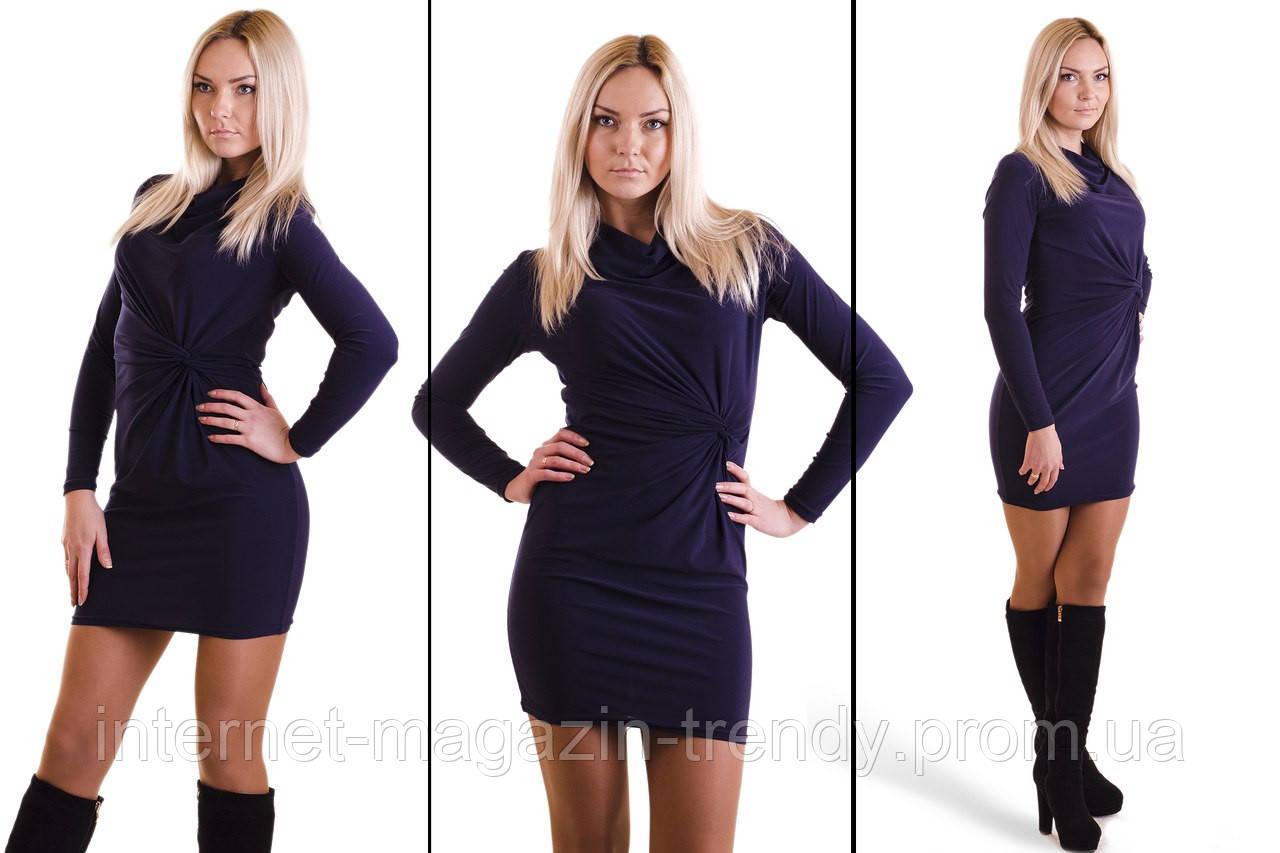 Платье облегающее с узелком на талии(4 цвета) 139