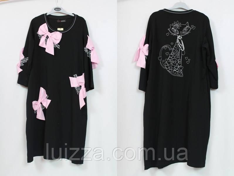 ca8c084fd77a100 Платье женское с бантами Pompandur Турция 52 - 64 рр - Luizza-Луиза женская  одежда