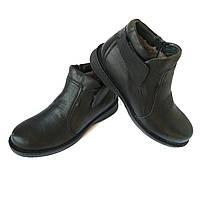 Зимние кожаные ботинки kadar Луцк  черного цвета afdb52f084577