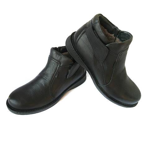Зимние кожаные ботинки kadar Луцк: черного цвета, нанатуральной шерсти