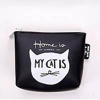Кошелек-ключница на молнии резиновый «Black Cat» (черный), фото 1