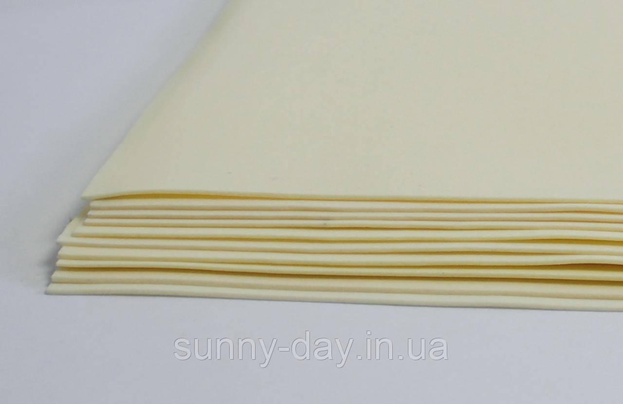 Фоамиран лист (15х20см), античний білий