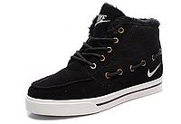 "Зимние кроссовки на меху Nike Sweet Classic ""Black/White"" (Черные/Белые), фото 1"