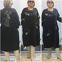 Платье женское с бантами Pompandur Турция 52 - 64 рр