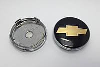 Колпачки заглушки легкосплавных дисков Chevrolet 60mm чёрные