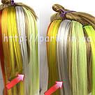 🍦 Цветные пряди волос белоснежно белые на заколках 🍦, фото 4