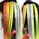 🍦 Цветные пряди волос белоснежно белые на заколках 🍦, фото 6