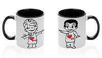 """Парные чашки """"Я люблю ее/его!"""""""