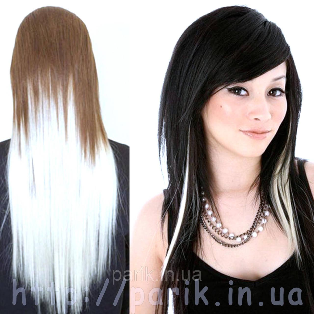 🍦 Белые как снег волосы на заколках клипсах 🍦