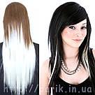🍦 Белые пряди цветных волос на заколках 🍦, фото 3