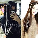 🍦 Белые пряди цветных волос на заколках 🍦, фото 4
