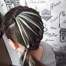 🍦 Белые пряди цветных волос на заколках 🍦, фото 9