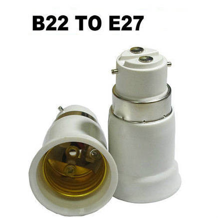 Переходник (адаптер, конвертер, разъем) для патрона с B22 на Е27, фото 2