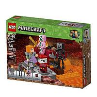 """LEGO Minecraft  Конструктор Лего """"Бой в подземелье"""" The Nether Fight 21139 Building Kit"""