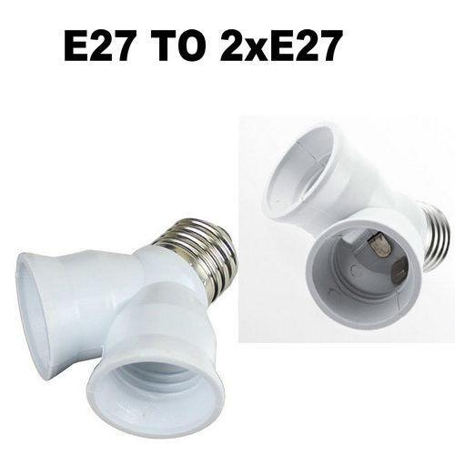 Переходник (адаптер, конвертер, разъем) для патрона с Е27 на два патроны Е27