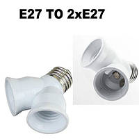 Переходник (адаптер, конвертер, разъем) для патрона с Е27 на два патроны Е27, фото 1