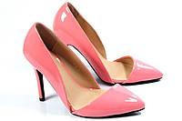 Лаковые туфли розовие