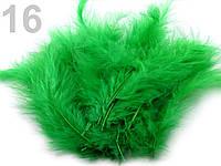 Страусовые перья длина 10-15 см. для декора. №16, зелёный ирландский.