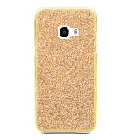 Чехол New case Twins для Samsung Galaxy A3 (2017) SM-A320 Gold