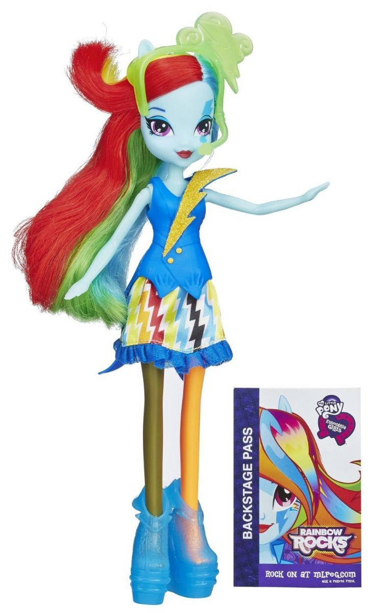 My Little Pony Equestria Girls Rainbow Dash із серії Rainbow Rocks Neon(Кукла еквестрия  - Рейнбоу Даш)