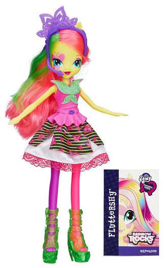 My Little Pony Equestria Girls Fluttershy із серії Rainbow Rocks Neon (Кукла еквестрия  - Флаттершай)