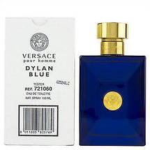 Versace Pour Homme Dylan Blue туалетная вода 100 ml. (Тестер Версаче Пур Хом Дилан Блю), фото 3
