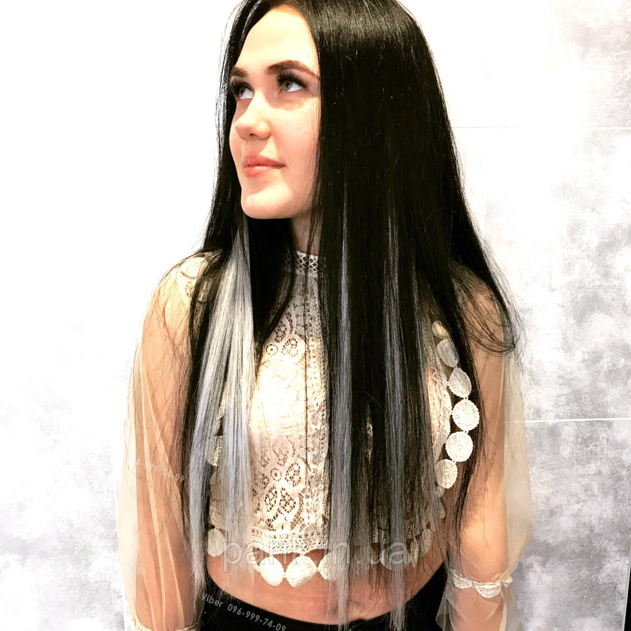 🍦 Цветные пряди искусственных белых волос  🍦