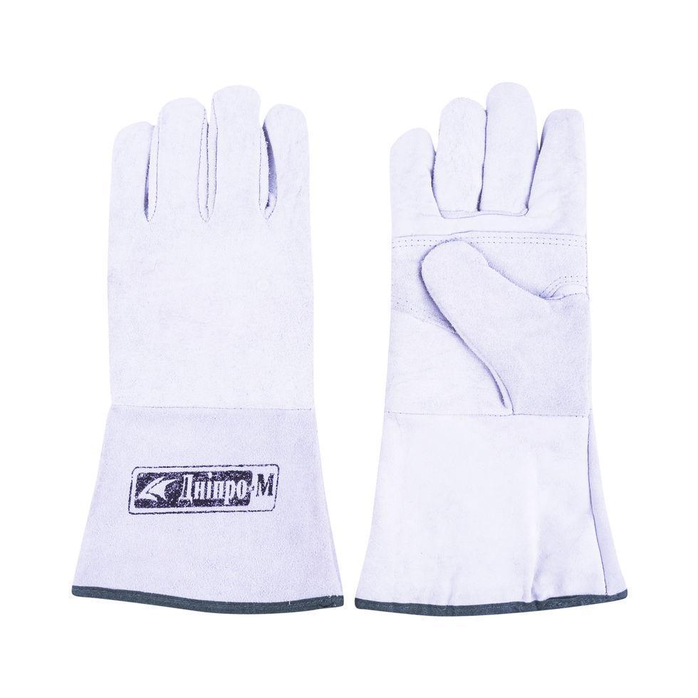 Перчатки Дніпро-М Краги замшевые (белые)