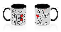 """Парные чашки """"Любовынй магнит"""""""