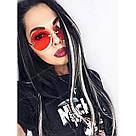 🍦 Цветные пряди искусственных волос белые 🍦, фото 5