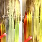 🍦 Цветные пряди искусственных термо волос белые 🍦, фото 3
