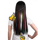 🍦 Цветные пряди искусственных термо волос белые 🍦, фото 5
