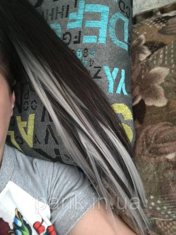 🍦 Цветные пряди искусственных термо волос белые 🍦