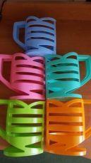 Кувшин-подставка для молочных пакетов 1л. Оранжевый