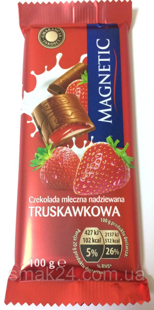 Шоколад молочный с клубникой Magnetic Польша, 100г