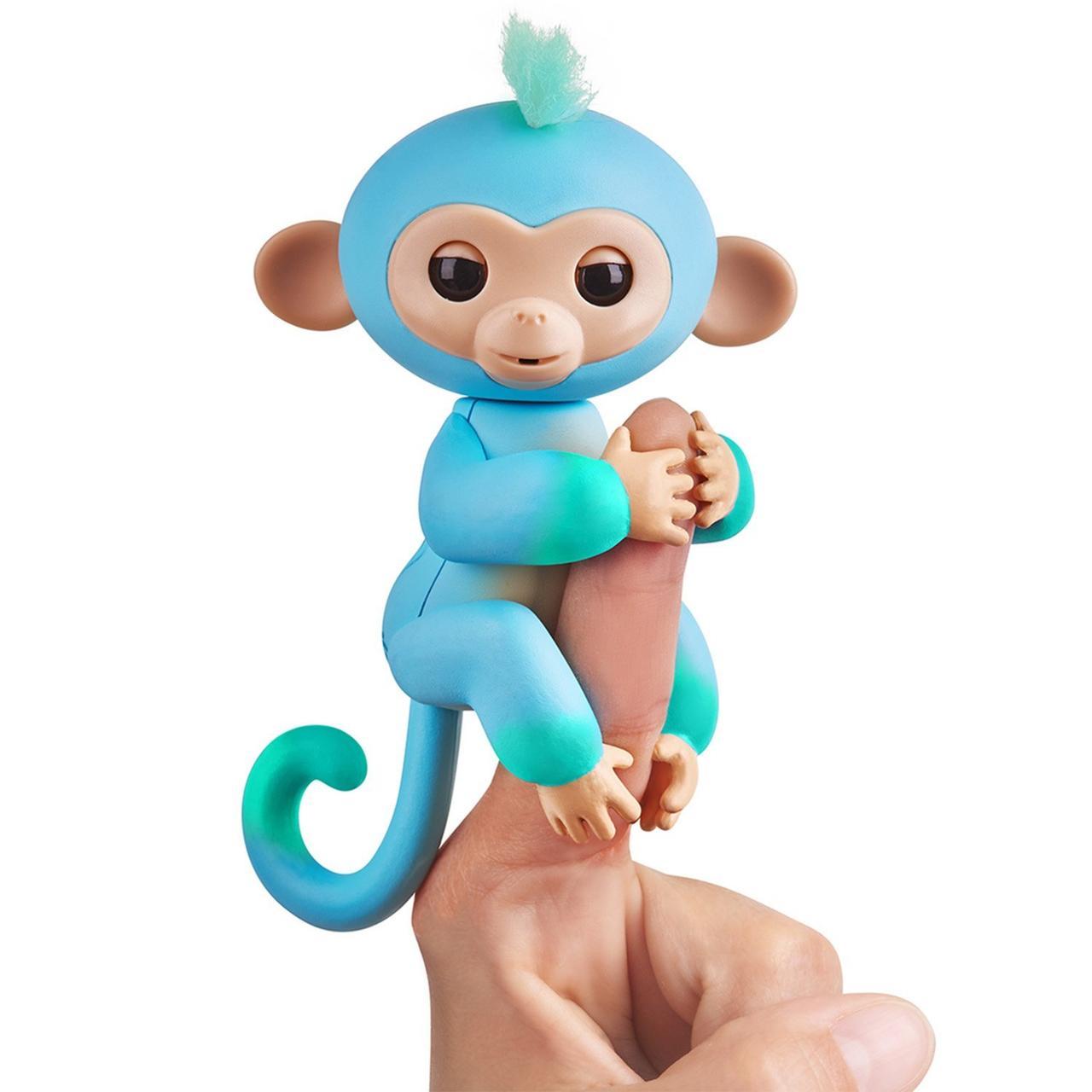 Інтерактивна мавпочка зелено-блакитна Fingerlings Чарлі
