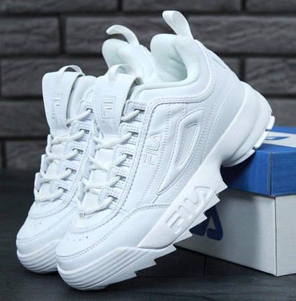 Женские кроссовки в стиле Fila Disruptor 2(II) White, фото 2