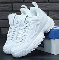 Женские кроссовки в стиле Fila Disruptor 2(II) White